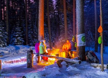 Экстремальный поход c основами обучения выживанию (зимняя ночёвка)