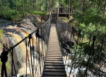 Выходные в Карелии: горный парк Рускеала, водопады и деревня викингов (комфорт-тур)