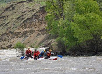 Сплав по реке Кура
