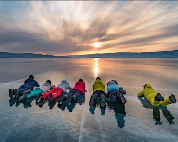 Байкальский лёд с детьми - комфорт-тур