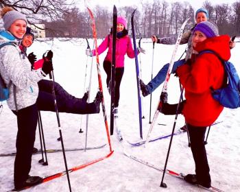 Лыжная прогулка в Комарово