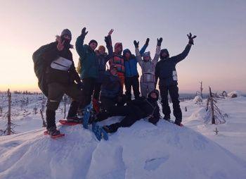 Зимний поход на снегоступах - загадочная снежная Воттоваара