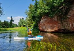 2 в 1: прогулка на сапах по озеру Донцо и реке Оредеж с автосопровождением