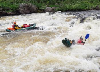 Сплав по рекам Кутсайоки и Тумча на байдарках