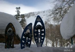 Зимний поход по природному парку Большой Тхач в снегоступах [Кавказ]
