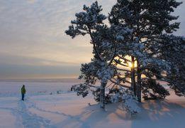 Пешком на остров Койонсаари (зимний вариант)